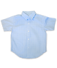 Boys' Short Sleeve Shirt in Blue Check