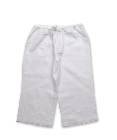 Linen Pant in White