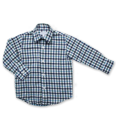 Longsleeve Shirt in Navy/Green/Blue Plaid