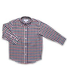 Longsleeve Shirt in Navy/Green/Red Plaid