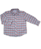 Longsleeve Shirt in Red and Blue Check