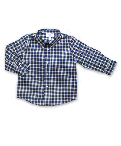Longsleeve Shirt in Royal Windowpaine