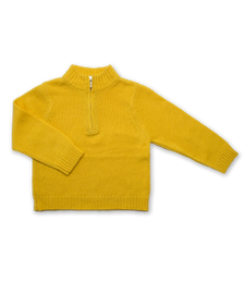 Cashmere Half Zip Sweater in Yellow