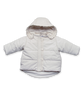 Quilted Snow Jack with Ruffle in Creme