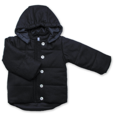 Quilted Tweed Snow Jacket in Navy