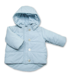 Quilted Snow Jacket in Blue