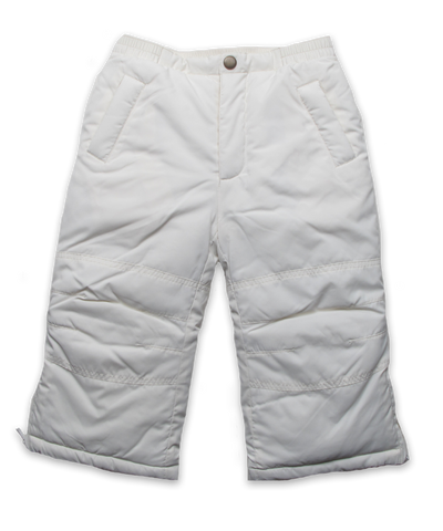 Quilted Snow Pant in Creme