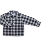 Baby Boy Longsleeve Shirt in Navy Flannel Check
