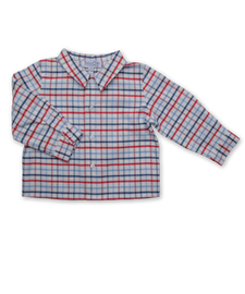 Shirt in Red and Blue Check