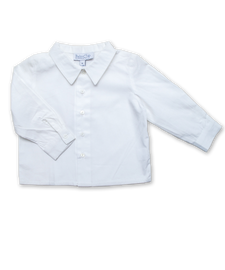 Baby Boy Longsleeve Shirt in White