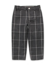 Boy's Slim Pant in CHARCOAL CHECK