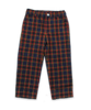 Boy's Slim Pant in Red/Yellow/Navy Plaid