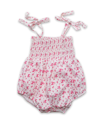 Smocked Bubble in Ditsy Pink