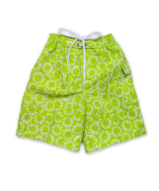 swim trunks in lime Aurora Floral