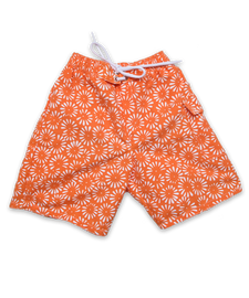 swim trunks in orange