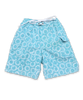 swim trunks in turquoise Aurora Floral