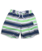 Swim Trunks in Contrast Stripe Lime/Silver