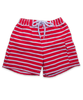 Swim Trunks in Red/White Stripe