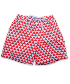 Swim Trunks in Orange Triangle
