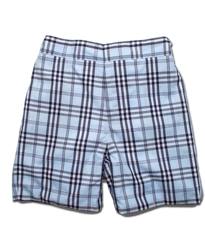 Boy's Short in Blue-Navy Windowpaine
