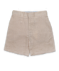 linen long short, khaki