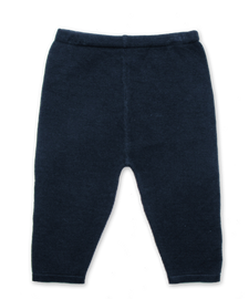 Luxury Cotton Knit Legging in Navy