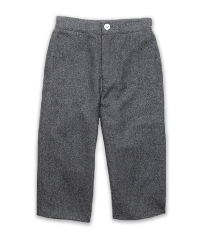 Slim Cut Tweed Pant in Charcoal