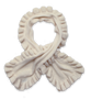 Cashmere Ruffle Scarf in Creme