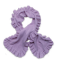 Cashmere Ruffle Scarf in Lavender