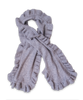 Cashmere Ruffle Scarf in Silver