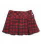 Pleated Skirt in Red Plaid