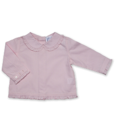 Ruffle Peter Pan blouse in Pink