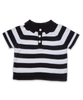 striped sweater rugby, navy/white