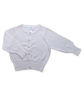 Girl's Luxury Cotton Cardigan with Pearl Buttons in White