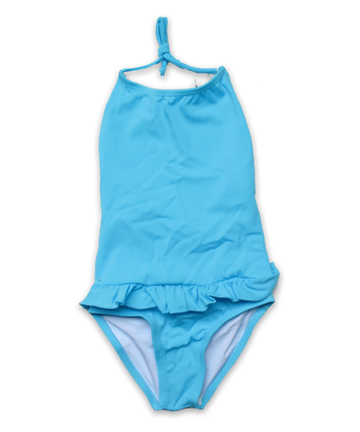 Bathing Suit with Ruffle Skirt in turquoise