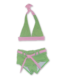 Halter Bikini in Lime Dot