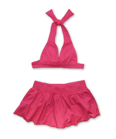 Halter Bikini with Swim Skirt