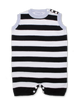 Tipped Striped Jumper w/Contrast in Navy/White/Blue