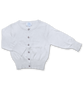 Cotton Cardigan with Crystal Buttons in White