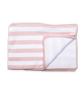 Baby Girl Luxury Cotton Blanket in Pink and White Stripe