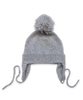 Cashmere Pom Hat in Silver