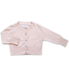 Cashmere Cardigan with Swarovski Buttons in Pink