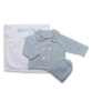 Cashmere Double Breasted Layette Set in Blue