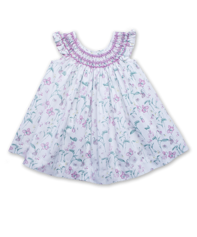 Evie Dress in Dainty Floral Pink