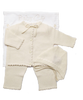 Cashmere Crochet Layette Set in Creme