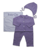 Cashmere Crochet Layette Set in Lavender