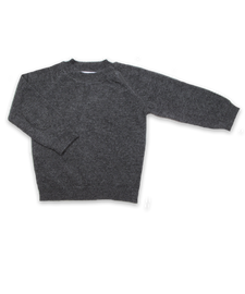 Cashmere Sweater with Patches in Derby Gray