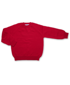 Cashmere Sweater with Patches in Red