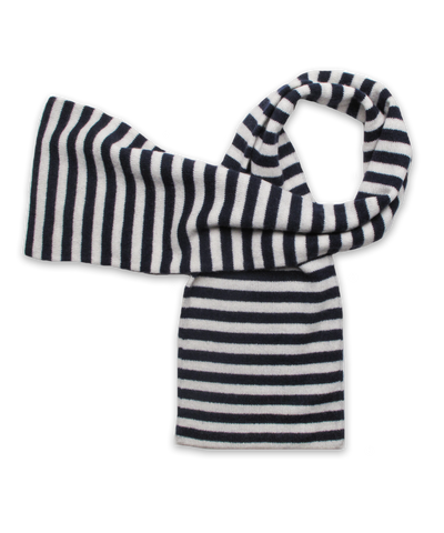 Striped Scarf Navy/Creme