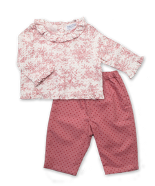 Pink Toile Top and Pant Set